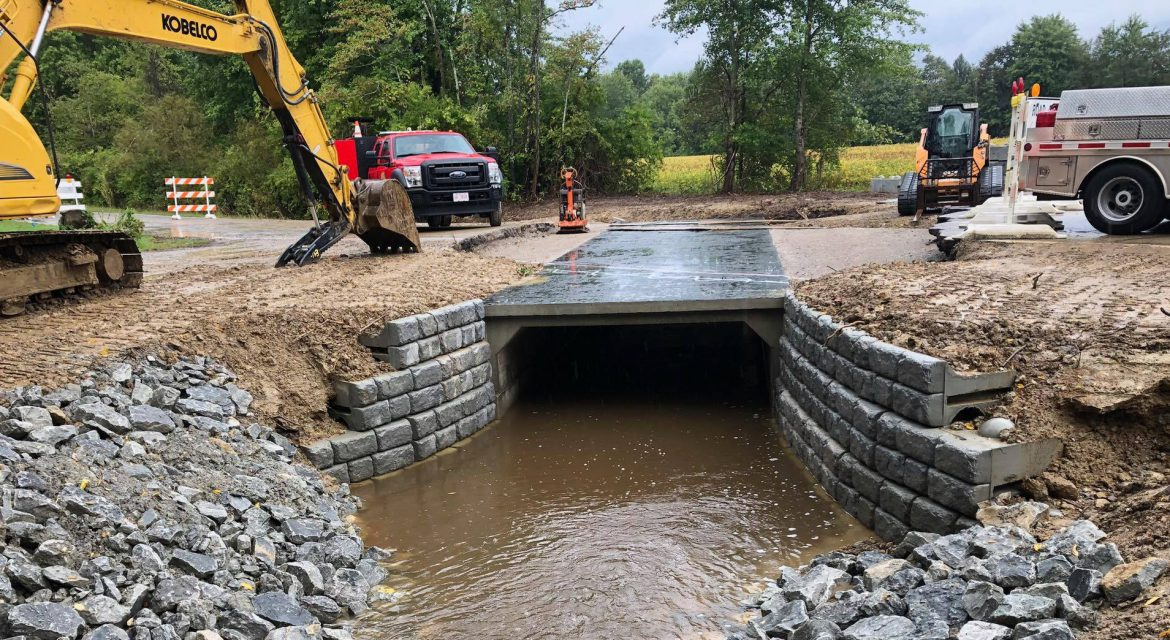 image of a culvert repair in progress - links to current projects page